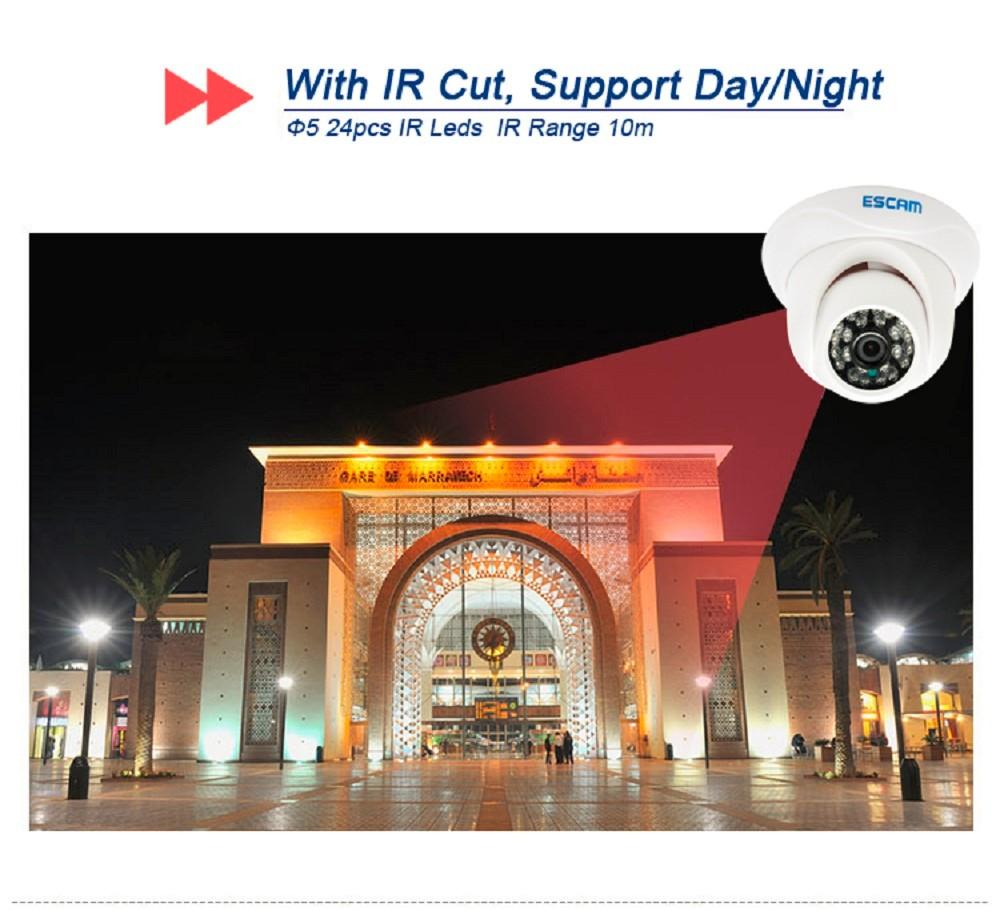 ESCAM Snail QD500 Waterproof Dome IP Camera CCTV 14 Inch 1MP CMOS 720P (3)
