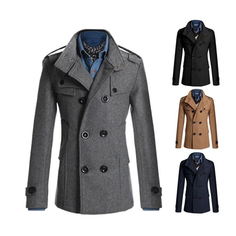 2017 Neue Winter Wolle Männer Mantel Dicken Mantel Männer Slim Fit Jacken Mode Oberbekleidung Warme Freizeitjacke Tops Casaco Masculino Diversifiziert In Der Verpackung
