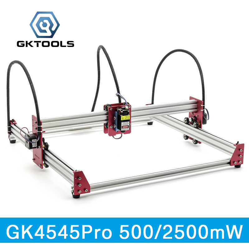 GKTOOLS All Metal 45*45cm 500mW,2500mW Wood Mini CNC Laser Engraver Cutter Engraving DIY Machine PWM,Benbox GRBL EleksMaker цена