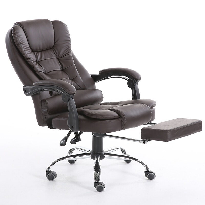 PI# 3057 Massage computer home office can lie with foot lifting ergonomic seat chair at the boss boss chair real leather computer chair home massage can lie in the leather chair solid wood armrest office chair 06