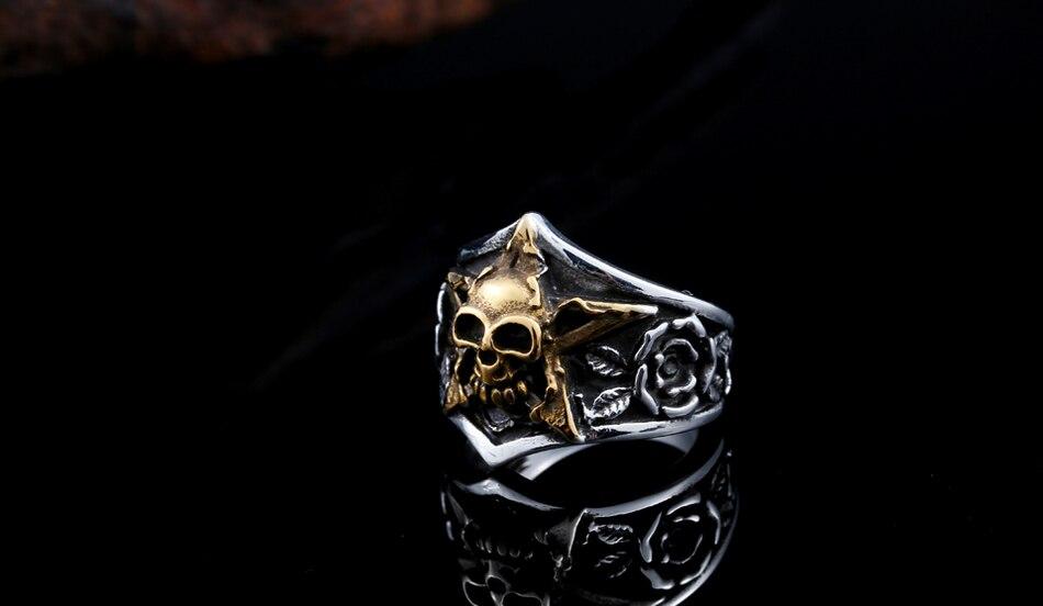 แหวนโคตรเท่ห์ Code 023 แหวนดาวห้าแฉก สแตนเลส8