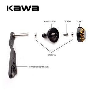 Image 4 - KAWA Yeni Balıkçılık Reel Kolu Karbon Fiber Için Uygun shimano ve Daiwa Yem Döküm Makarası, delik boyutu 8x5mm ve 7*4mm Birlikte