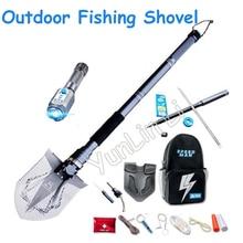 Outdoor Fishing Industry Shovel Multi-functional Folding Shovels Military Shovel Fishing Camping Tools