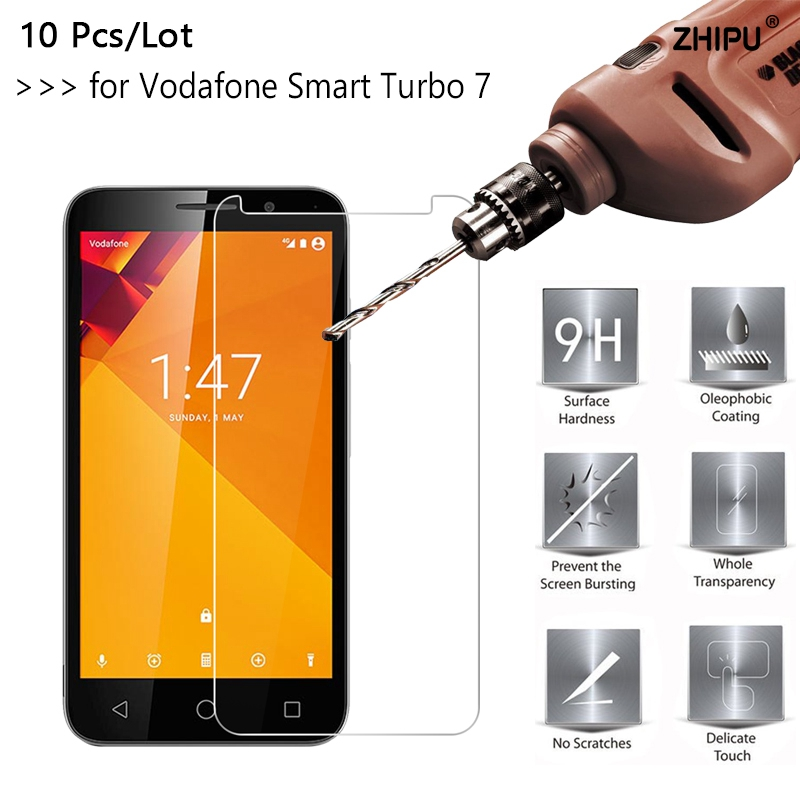 10 PcsLot 2.5D 0.26mm 9H Premium Tempered Glass For Vodafone Smart Turbo 7 Screen Protector Toughened protective film