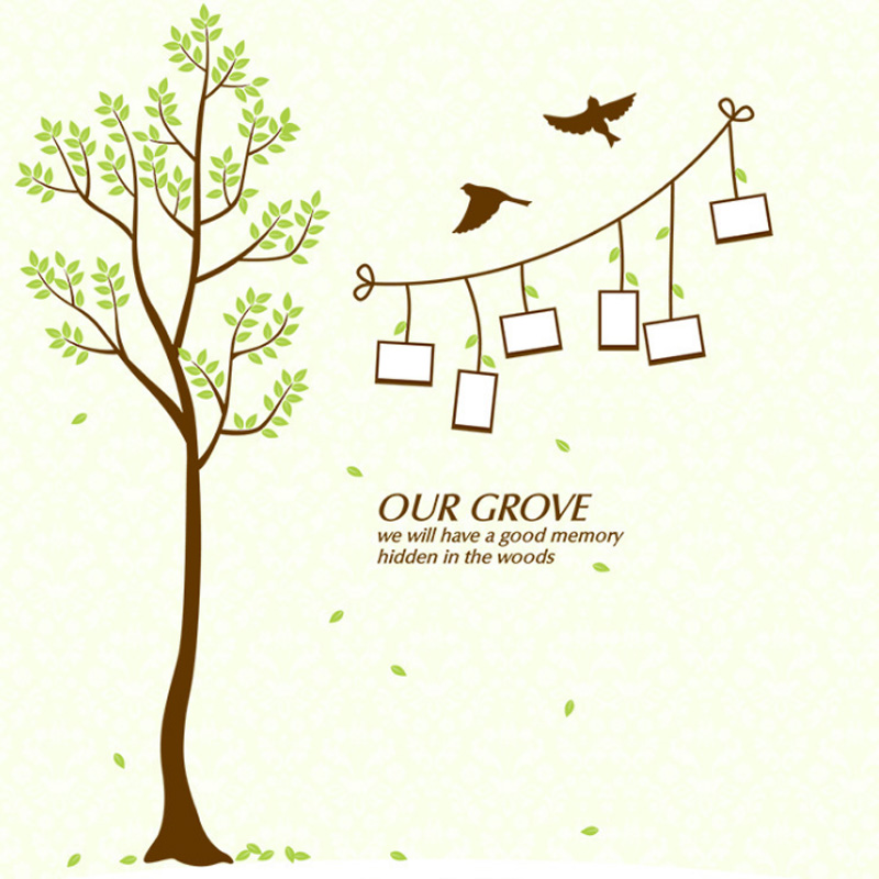 Diy Familie Fotorahmen Baum Wandaufkleber Wohnkultur Wohnzimmer