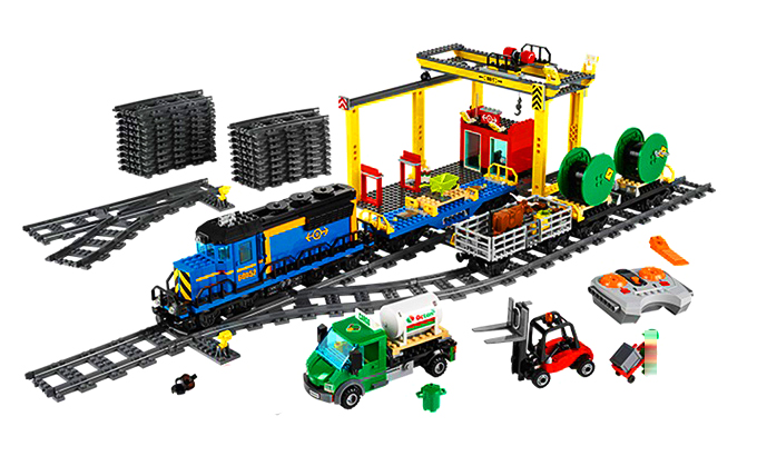 LEPIN 02008 City Series 959pcs The Cargo Train Model Building Block set Brick Educational Toy For children 60052 Gift cargo train model block toys city rc train birthday gifts for children compatible lepin technic series building blocks set 02008