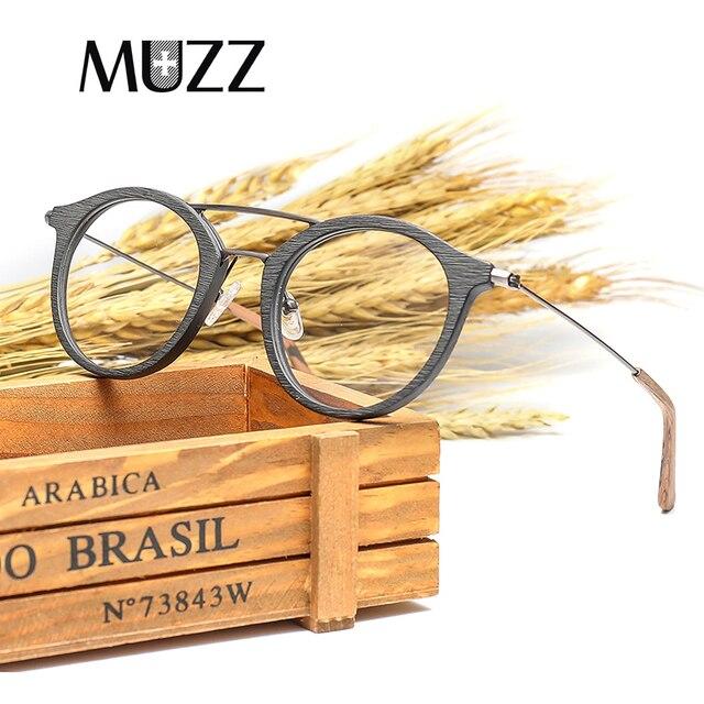 High Quality Men Myopia Wood Eyewear myopia glasses frame retro frame female frame male with myopia glasses