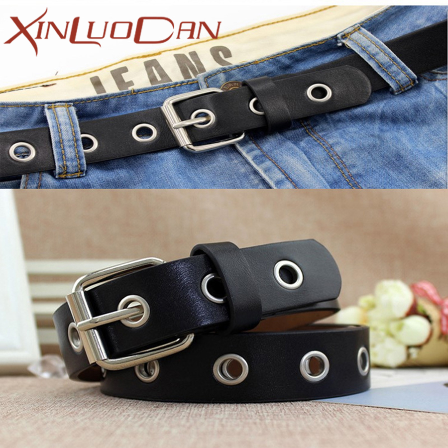 Punk Belt For Jeans PU Leather Vantage Belts Women Luxury Brand Accessories Style Female Cintos Ceinture For Jeans WB039