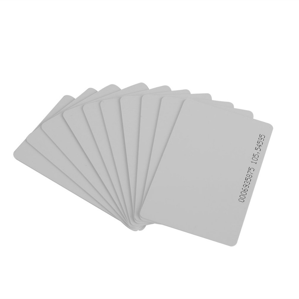 High Quality 10 Pcs 125KHz EM4100/TK4100 RFID Proximity ID Smart Card 0.85mm Thin Cards For ID And Access Control