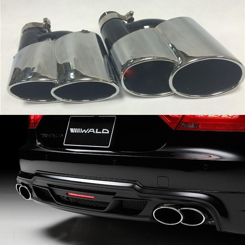 A7 Wald Style Exhaust Tips Muffler Pipe For Audi A7 S7 RS7