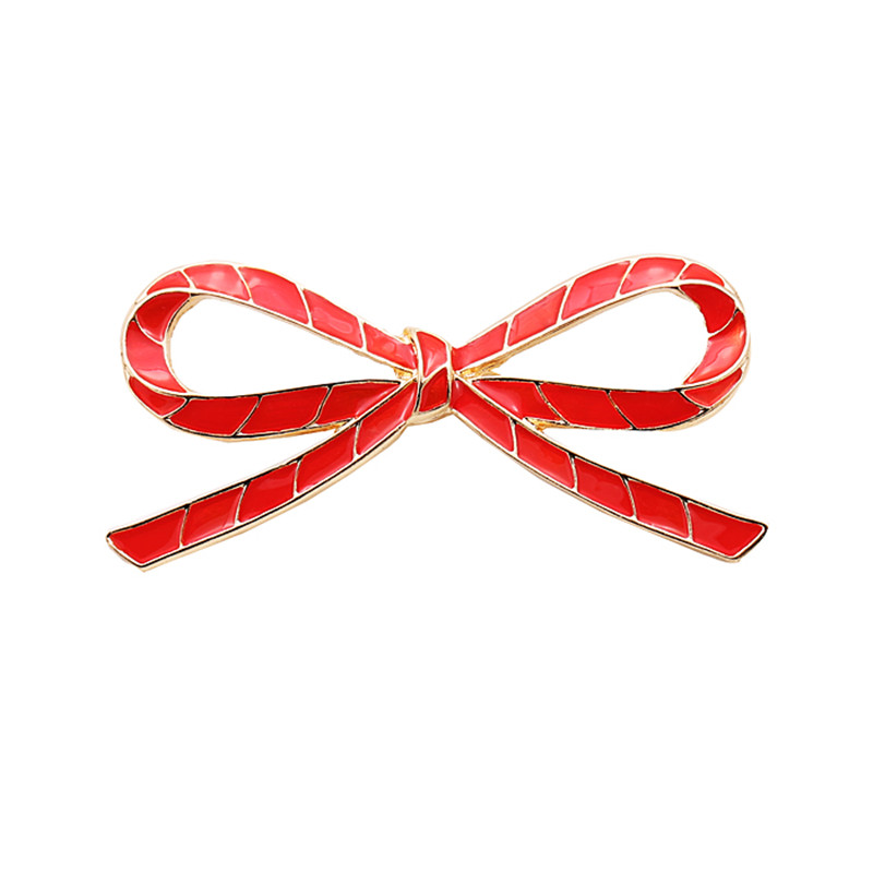 Sweet Red Big Bowknot brooches for Women Safety Scarf Shirt Dress Pins Broche Mujer female broches