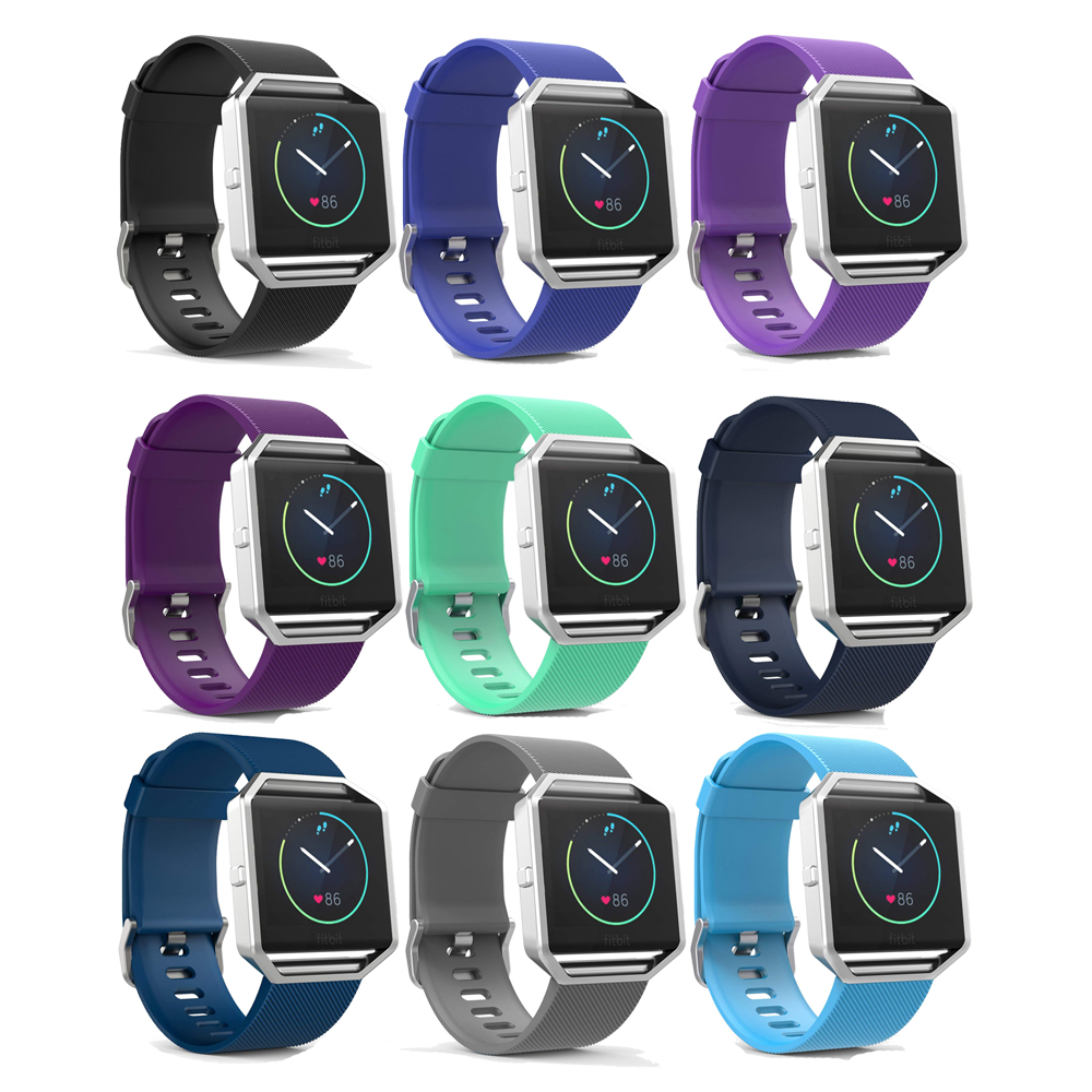 Silicone strap For fitbit blaze band replacment wristband bracelet wrist belt Correa smartwatch rubber watchband+metal buckle fitbit watch