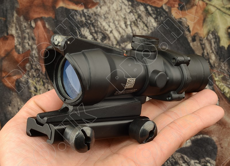 Tactical trijicon acog style 4x32 Rifles Scope For Picatinny Weaver Gun Rail Mount Base Hunting Shooting Rbo M5858 tactical weapon gun lamp light for glock and picatinny rail base hunting shooting aluminum alloy cutting x 400 black m7155