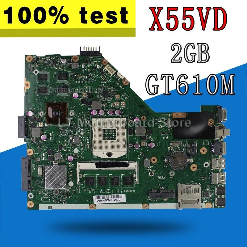 X55VD carte mère GT610M 2 GB RAM REV 2.2 USB 3.0 pour ASUS X55V X55VD carte mère d'ordinateur portable X55VD carte mère X55VD carte mère