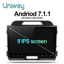 uniway AZP9071 2G+16G 2 din android car dvd for kia sportage 2014 2011 2009 2010 2013 2015 car radio stereo multimedia player