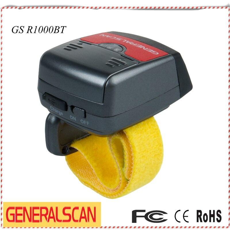 Горячие SGeneralscan R1000BT Мини Bluetooth кольцо сканер штрих-кода ...