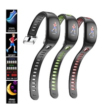 Smart Bracelet IP68 Waterproof Fit M band 3 Wristband Heart Rate Monitor Pedometer Smart Watch Color LCD Screen For iOS Android 1 3 lcd heart rate monitor