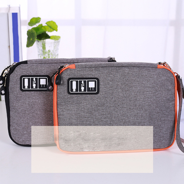 New Outdoor Single Layer Electronic Accessories Bag Hard Drive Organizer Earphone Cables USB Flash Drives Travel Case Picnic Bag