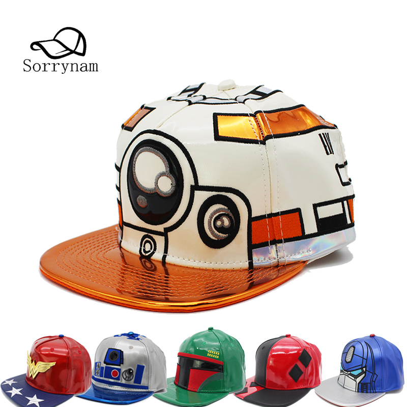 Star Wars Snapback Cap Leather Graffiti Baseball Caps Men Hip Hop Hats Street Unisex Cool hat for Women Men Casquette 2017 winter hat for women men women s knitted hats wrinkle bonnet hip hop warm baggy cap wool gorros hat female skullies beanies