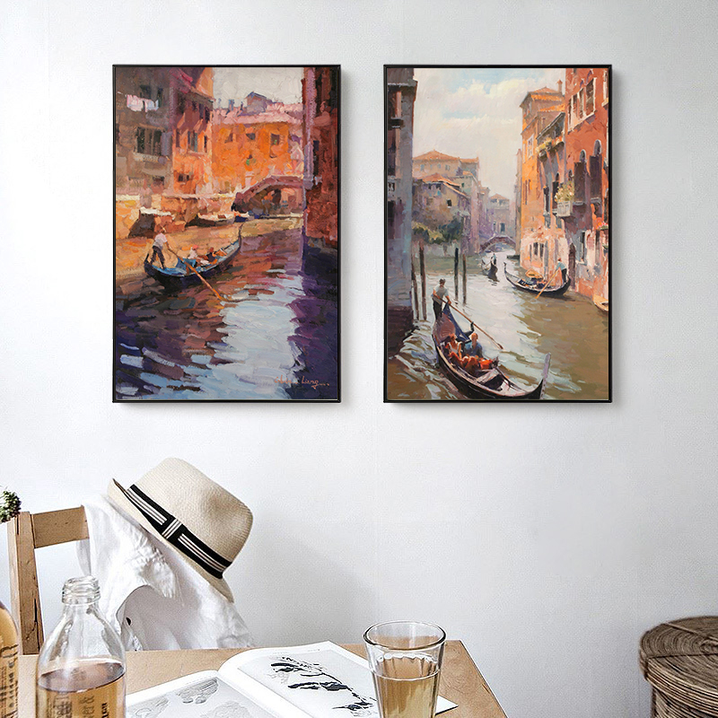 Us 4 03 49 Off Newbility European Classical Venice Landscape Paintings Living Room Decoration Bedroom Wall Art Canvas Prints Retro Pictures In