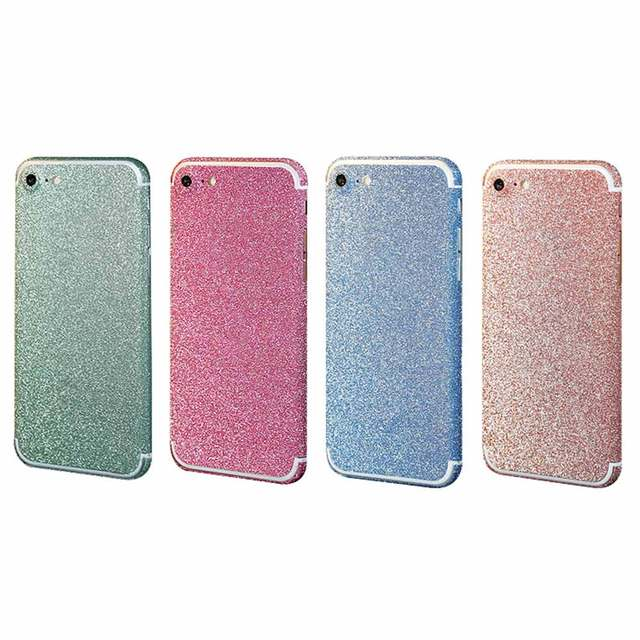 placeholder 360 Degree Full Body Decal Skin Wrap Phone Case Women Girls Bling  Glitter Phone Protective Sticker c4875b651c9c