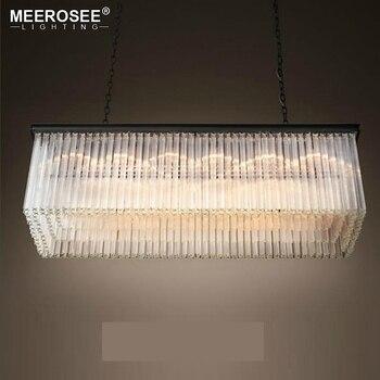 Bom K9 Lamparas Luminária Lustre de Cristal Retângulo Rodada Hanging Lustre para sala de estar da sala de Jantar Restaurante Café