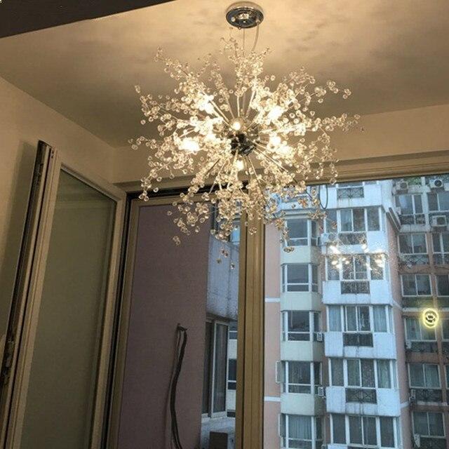€ 118.44 |Décoration acrylique ampoule led fantaisie lampe style moderne  chambre montage pendentif lumière salon dans Lampes Suspendues de Lumières  et ...