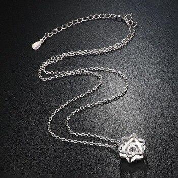 Ryoumignon cristal David Star 925 colliers en argent Sterling pour les femmes cadeau Boho bijoux déclaration de mode Long collier en pierre 2019 3