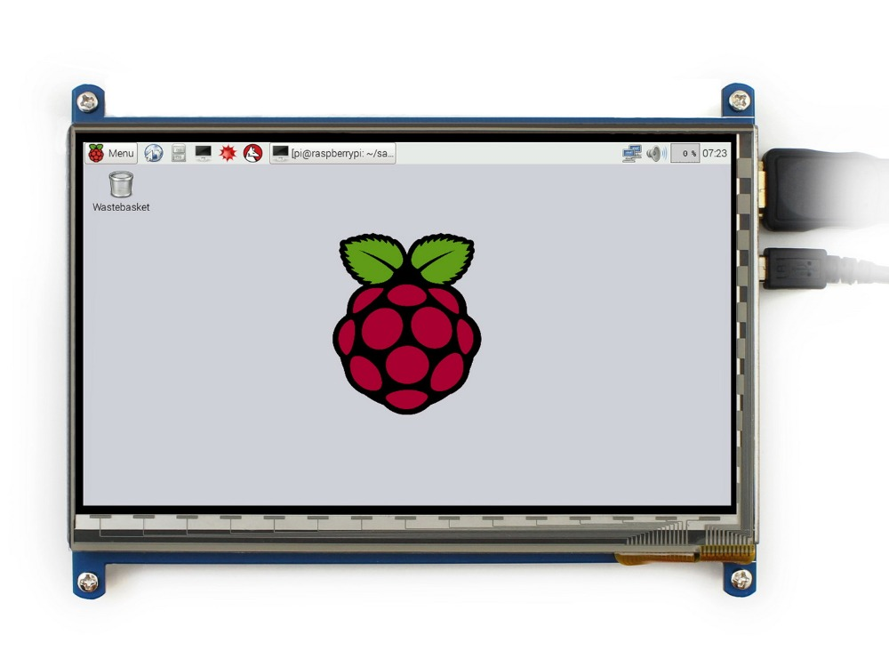 Waveshare 7 inch HDMI LCD (C) 1024*600 IPS Display Capacitive Touch Screen supports Raspberry Pi / mini PC work as Monitor modules micro pc 7inch hdmi lcd c raspberry pi 1024 600 capacitive touch screen display supports bb black&banana pi pro various