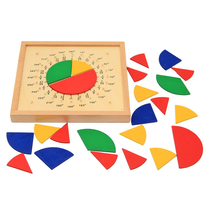 Baby Toys Circular Mathematics Fraction Division Teaching Aids Montessori Board Wooden Toys Child Educational Gift Math Toy teaching aids for mathematics