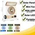 Portátil Recargable Ventilador Solar Ventilador Eléctrico Mini USB Ventilador Ventilateur Enfriador de Aire Ventiladores Lámpara Solar LED para Acampar Al Aire Libre