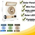 Portable Rechargeable Fan Solar Electric Fan Mini USB Ventilator Ventilateur Air Cooler Solar LED Lamp Fans for Camping Outdoor