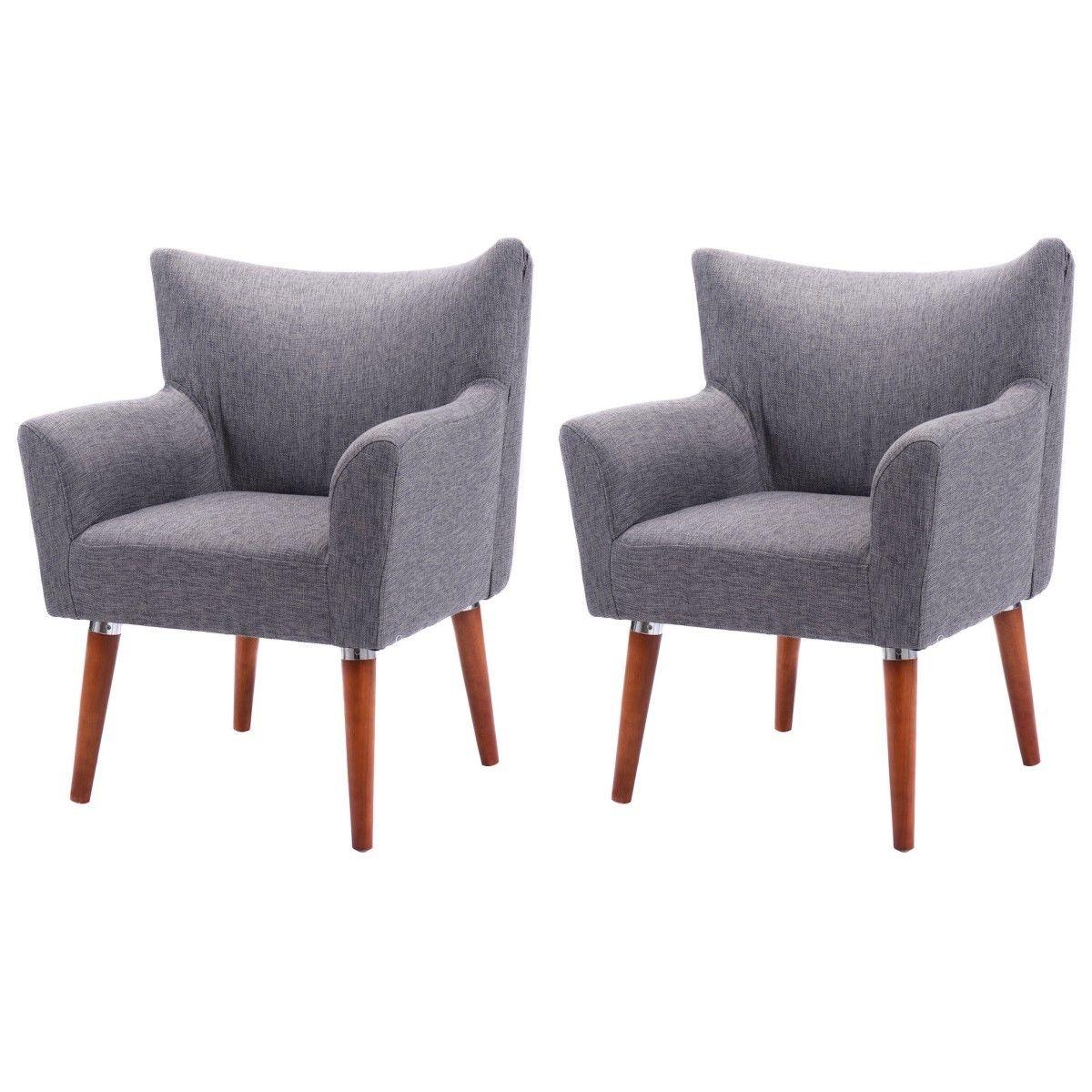 Giantex Set Of 2 Leisure Arm Chair Single Sofa Couch Seat Modern Home Chairs Garden Living Room Furniture Sofa 2*HW51502COFFEE