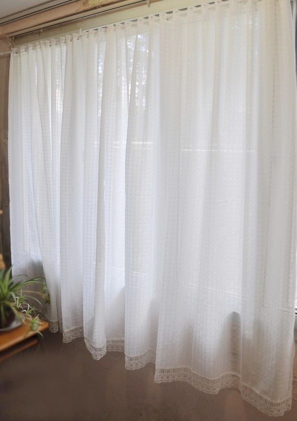 SV New Listing HOT Classic White Party Plaid Window Coffee Half Curtains Small Short Curtain Water Soluble Lace Sheer In From Home