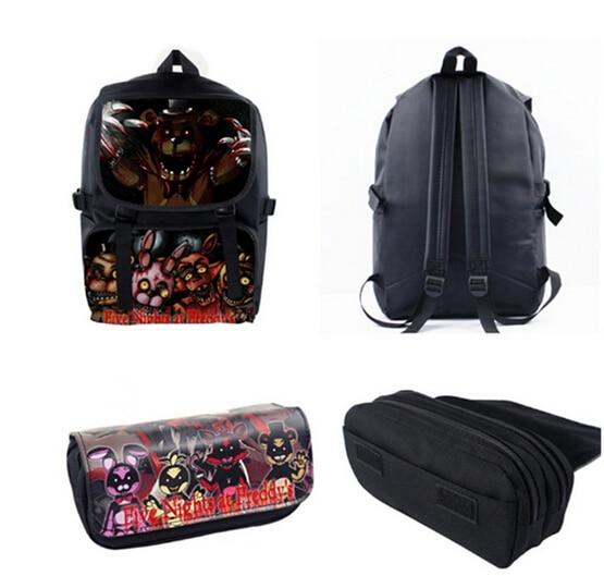 New Five Nights At Freddy's Characters FNAF Shoulder Bag Backpack+ Pencil Case