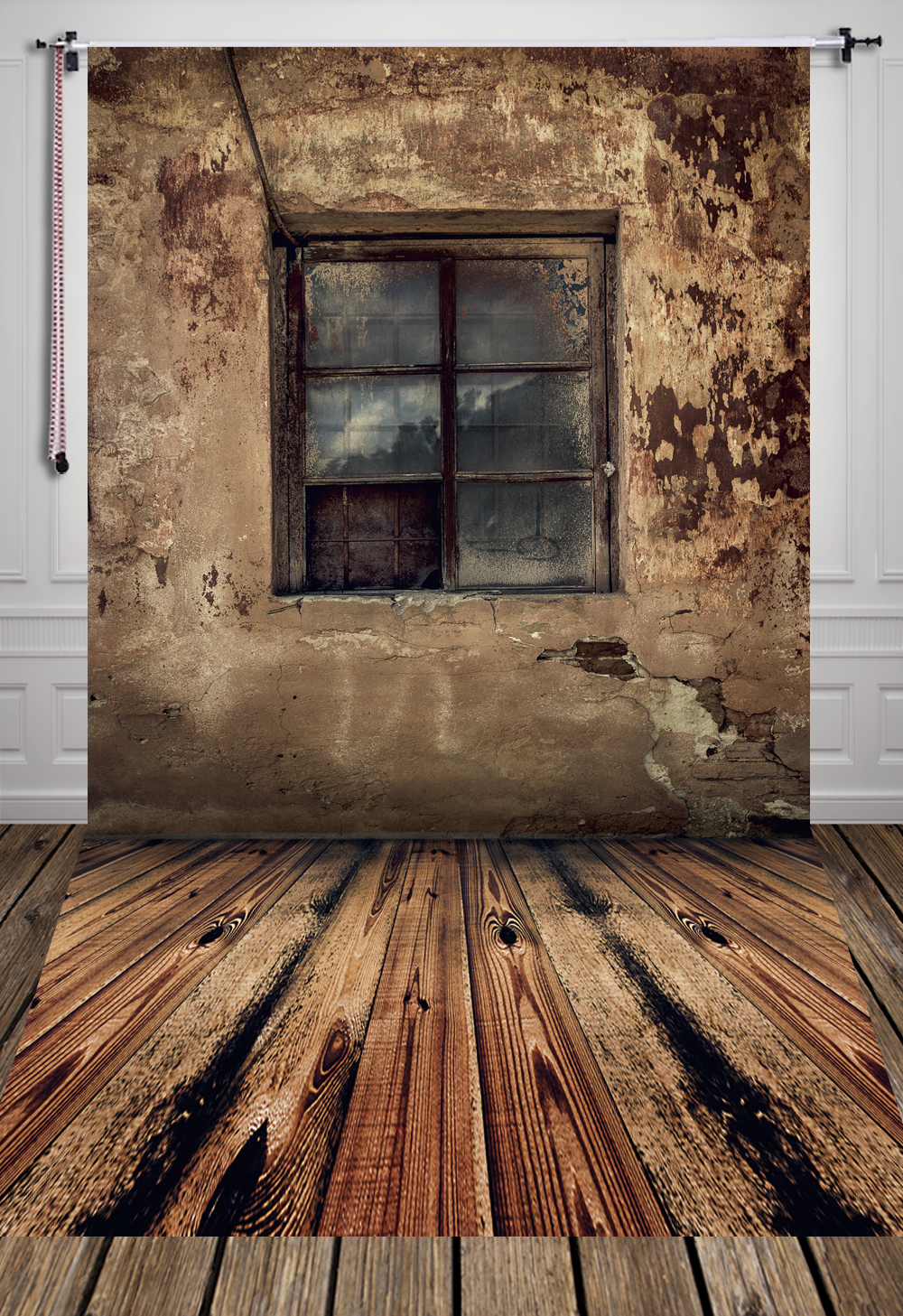 Art Fabric Photography Backdrop Vintage Window on Wall and Wooden Floor Backdrop Custom Photo Prop backgrounds 5ft X 7ft D-920 huayi 5x5ft 1 5x1 5m art fabric vintage wooden floor wedding photography background newborn photo studio prop backdrop d 7436