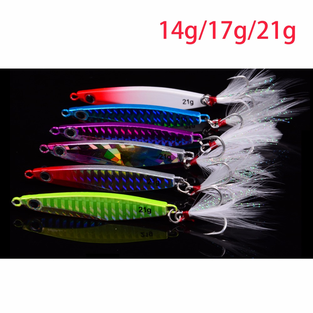 Balleo Laser Metal Jig 14g 17g 21g jigging lure Lead Fish Fishing Lure fishing metal lures metal jigs lures for pike fishing 10pcs 21g 14g 10g 7g 5g metal fishing lure fishing spoon silver and gold colors free shipping