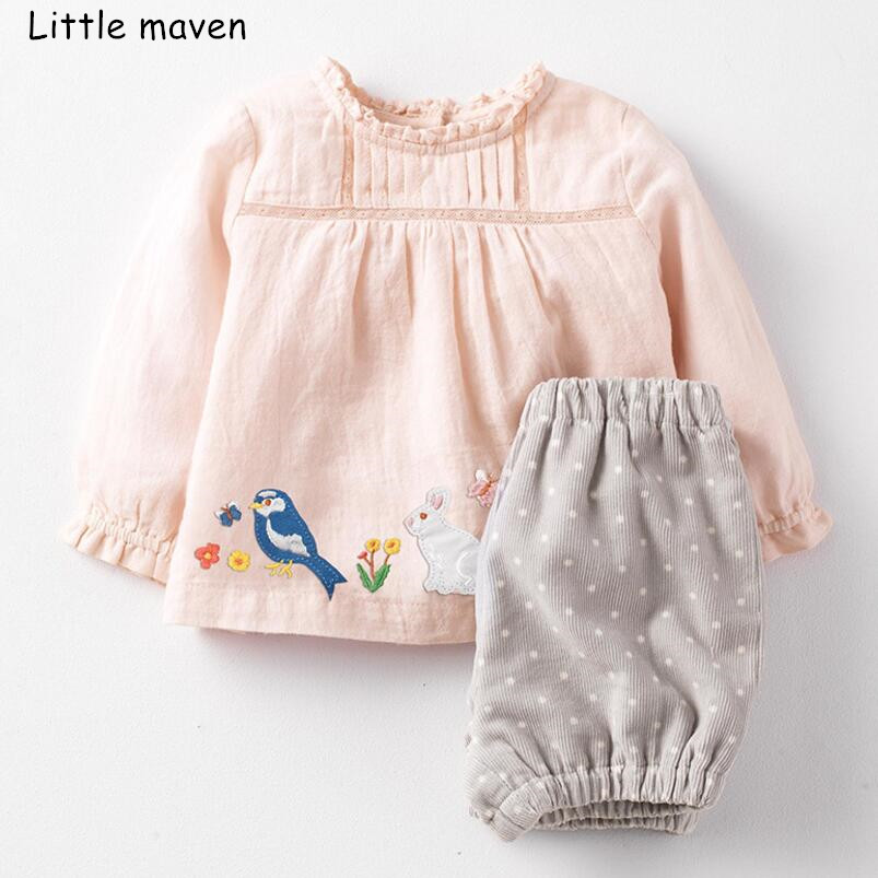 Little maven kids's clothes units autumn ladies animal Cotton model lengthy sleeve fowl rabbit gown + thick dot shorts 20248 Clothes Units, Low-cost Clothes Units, Little maven kids's clothes...