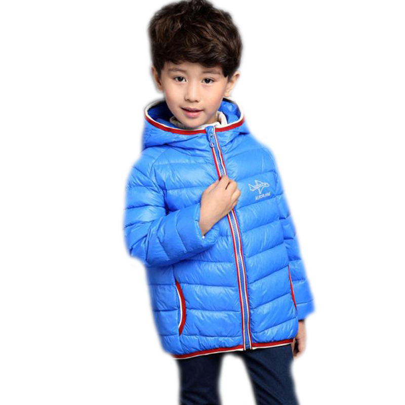ФОТО Boys&girls winter Jackets 2016 new children's clothing letter printed winter thicken boys down jacket casual winter boy coats