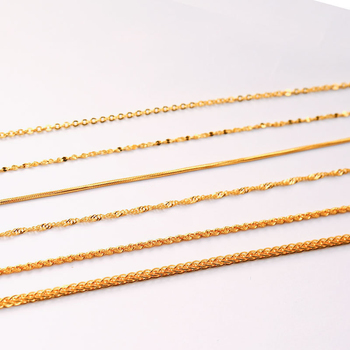 XXX 24K Pure Gold Necklace Real AU 999 Solid Gold Chain Beautiful Smooth Shiny Upscale Trendy Classic Fine Jewelry Hot Sell New 3