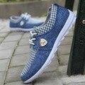 2016 para hombre Zapatos Casuales para hombre zapatos de lona para los hombres zapatos de Los Planos de Cuero marca de moda ante Zapatos de hombre ferrary