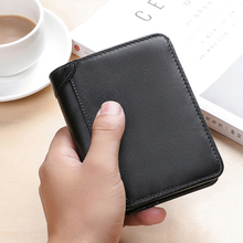 BAQI Brand Men Wallet 2019 Fashion Genuine Leather Cow High Quality Coin Purse Card Holder Man Zipper Short Male