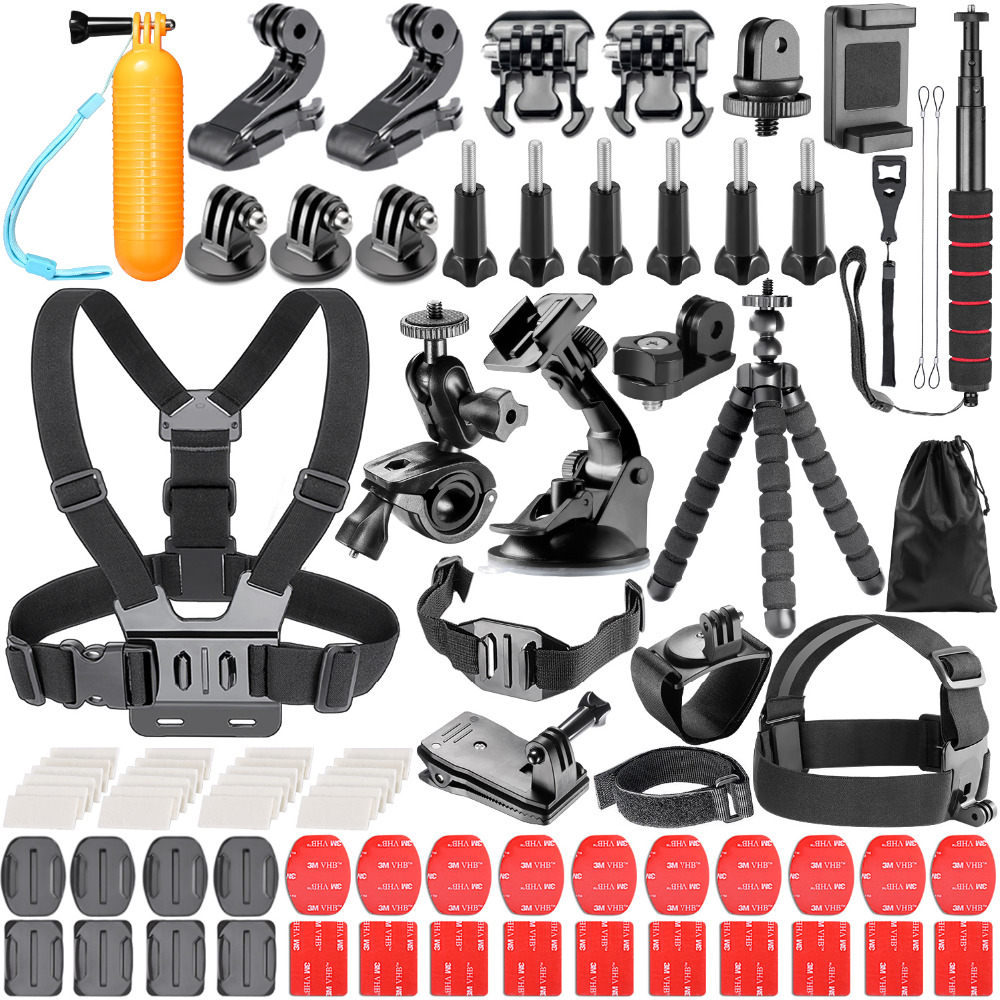 Neewer 83 In 1 Action Camera Accessory Kit for GoPro Hero Session/5 Hero 3 3+ 4 5 SJ4000 5000 6000 DBPOWER AKASO VicTsing