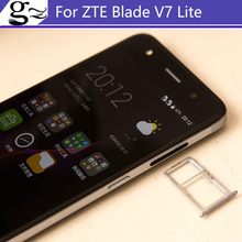Для zte blade v7 v 7 lite 5.0 дюймов новый оригинальный sim карты держатель лотка слот для карты для zte v7 lite сим-карты держатель