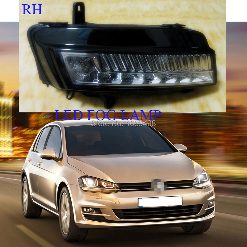 1 Pieces RH bumper fog lamp front fog light LED for VW MK7 Volkswagen Golf VII 7 2014 маска selective professional powerplex mask
