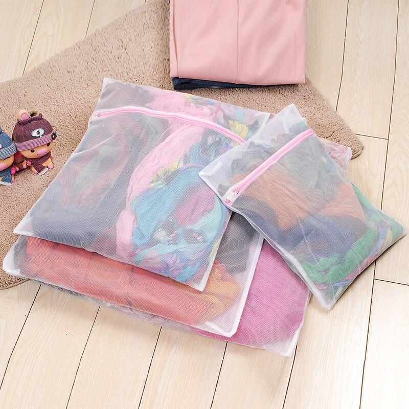 4PCS High Quality Fine Grid Laundry Bag Home Clothing Care Bra Underwear Bags Bathroom Washing Machine Supplies Home Accessories