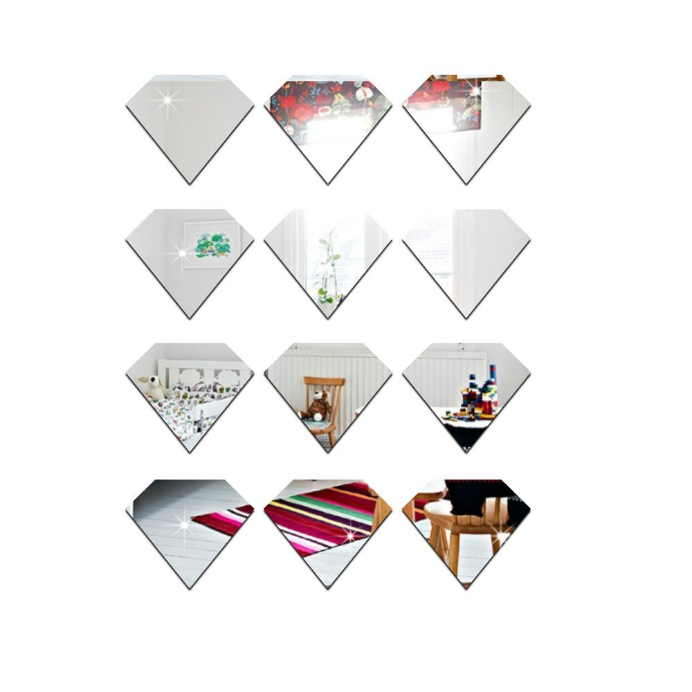 Wall Decals Wall Stickers Good Mirror Reflective Effect Cartoon Pattern for Living Room Bed Room Kid Room,24pcs/lot