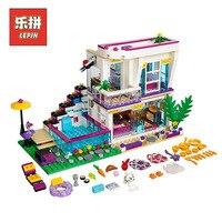 Lepin 01046 Friends Girl The Singer Villa House DIY Set Model Building Kits Blocks Bricks Children