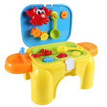 NFSTRIKE Kids Beach sand Toys Pretend Play Set with Retractable Storage Chair Educational Occupations Toys for Children Girls(China)