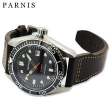 45mm Parnis Men's Automatic Mechanical Watch Ceramic Bezel Self-Wind Wrist Watches Japan Movement Sapphire Crystal 20ATM Clock